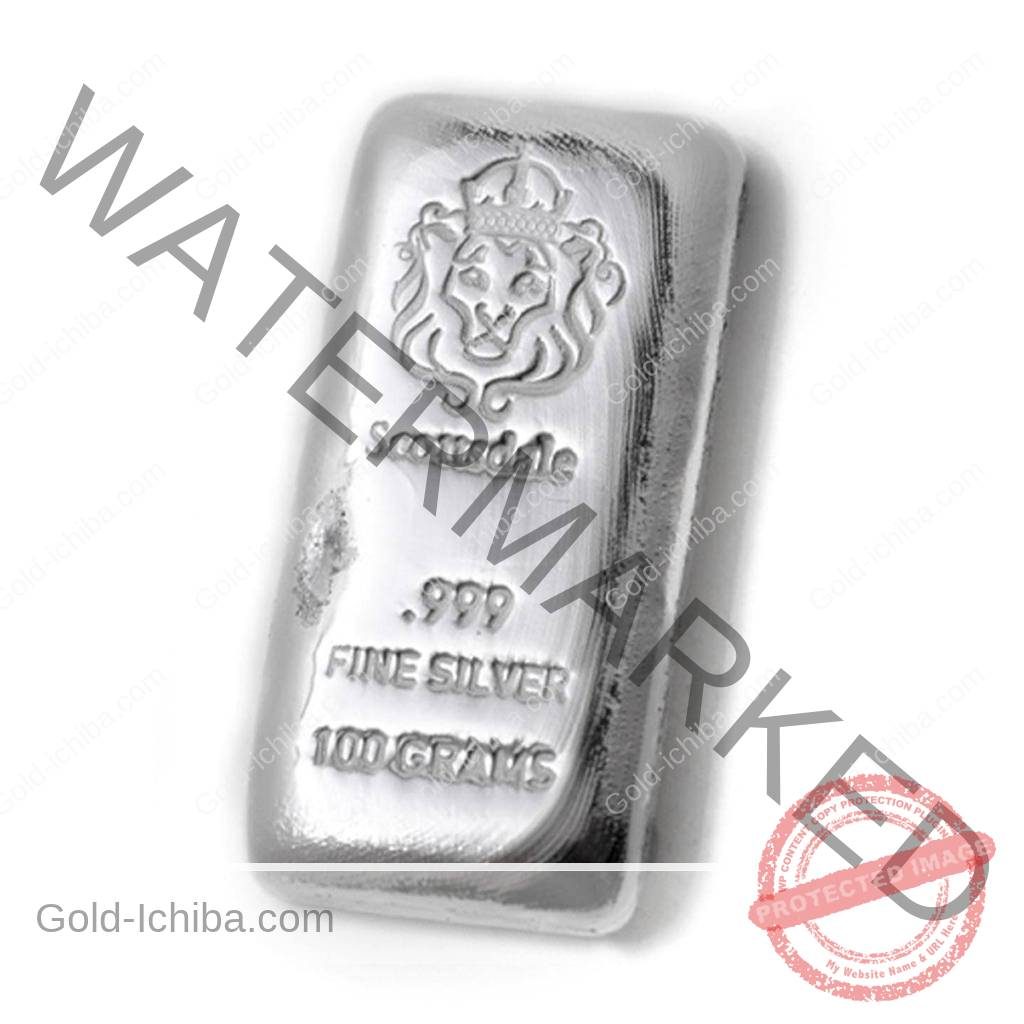 100-Gram-Cast-Silver-Bar-by-Scottsdale-Mint