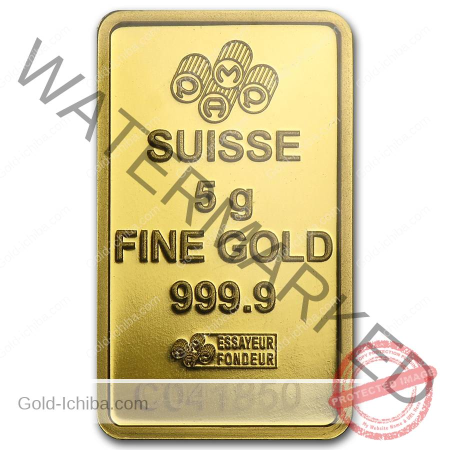 New 5 Gram Pamp Swiss 24k Gold Bar 9999 In Assay Card